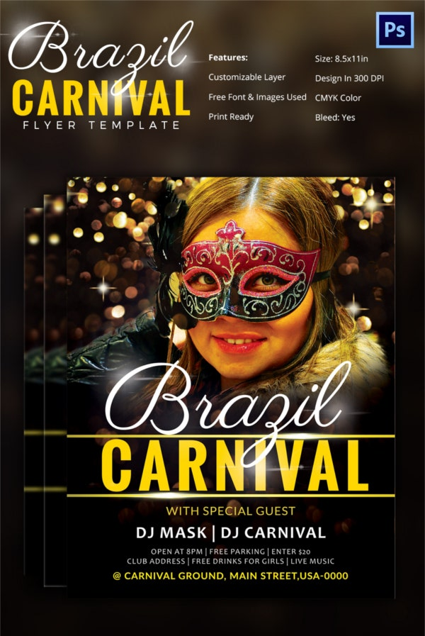 carnival flyer template 51 free psd ai vector eps format download