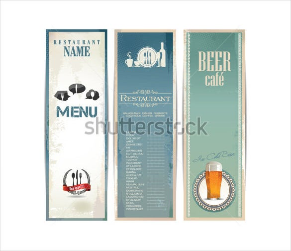 restaurant beer drink menu template