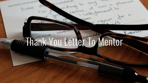 thank you letter to mentor