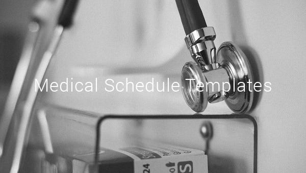 medical schedule templates