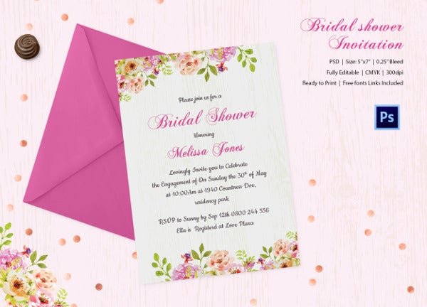 25 bridal shower invitations templates psd invitations free premium templates free. Black Bedroom Furniture Sets. Home Design Ideas