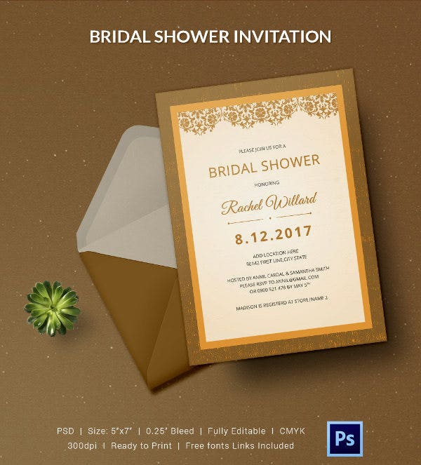 25  bridal shower invitations templates