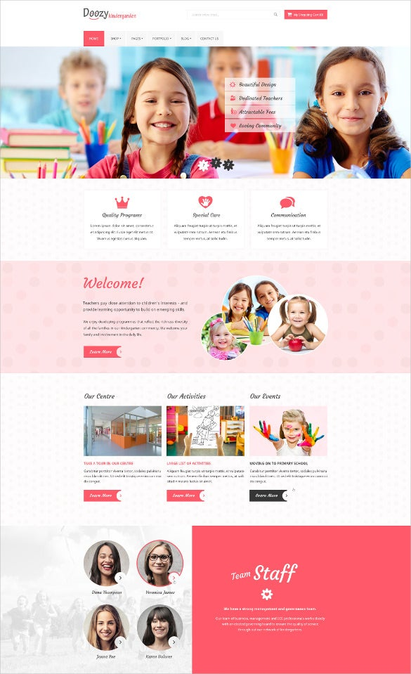 colorful blog psd template