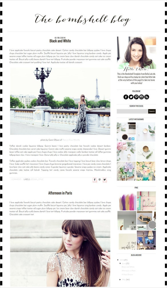 beautiful psd blog template