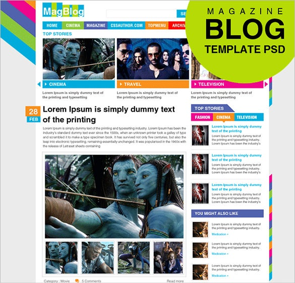 awesome blog psd template