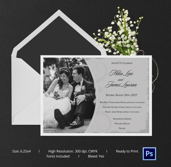 Floral Wedding Card Template For Download