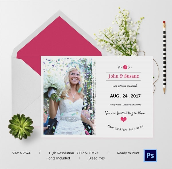 Beautiful Wedding Card Template For Download