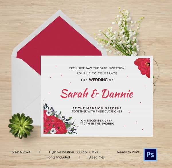 Elegant Wedding Card Template For Download