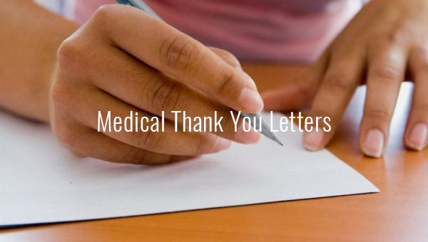 medical thank you letters