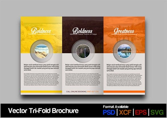 colourful google brochure template