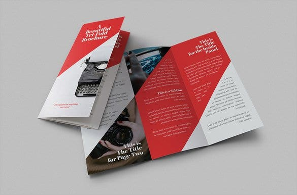 red colour google brochure template 8