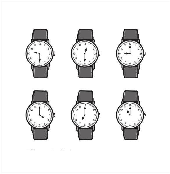 clock minutes hand template printable2
