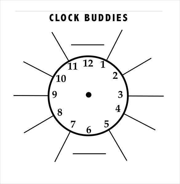 sample handless clock format1