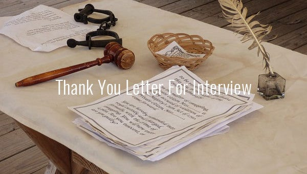 thankyouletterforinterview