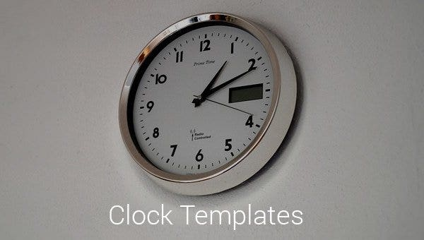 17+ Printable Clock Templates - PDF, DOC | Free & Premium