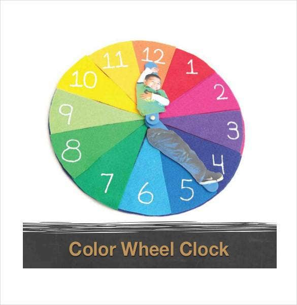 printable color wheel clock image1