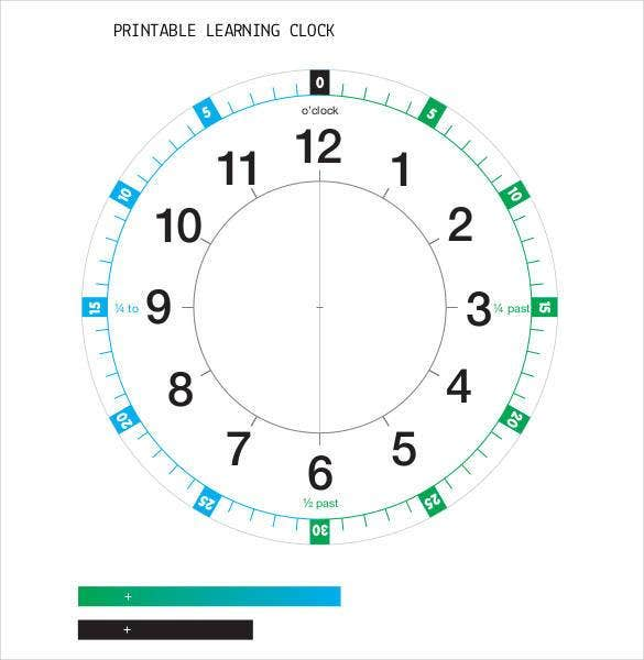 printable learning time clock template1