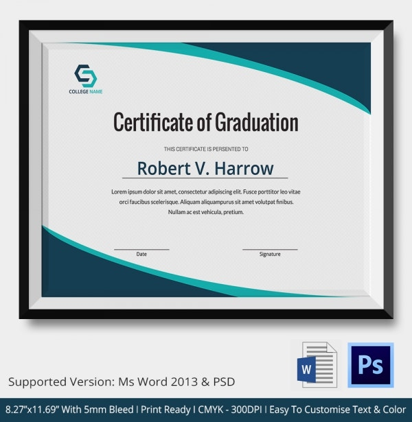 11 Graduation Certificate Templates Word PDF Documents – Certificate Samples in Word Format
