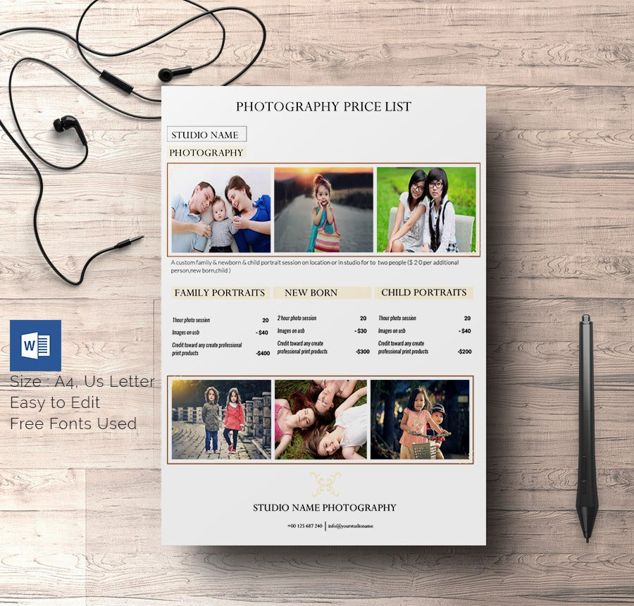 Price List Brochure Template