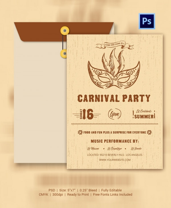 Vintage Inspired Carnival Invitation