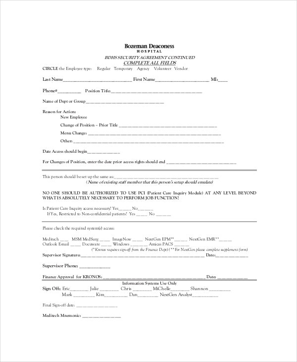 10+ Patient Confidentiality Agreement Templates – Free Sample