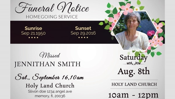 Funeral Notice Template 12 Free Word Excel Pdf Psd Format Download Free Premium Templates