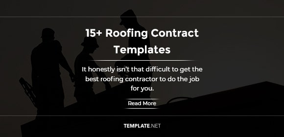 free 15  roofing contract templates in ms word