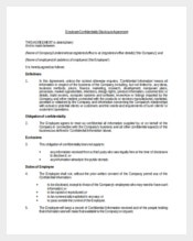 Employee Confidentiality Disclosure Agreement