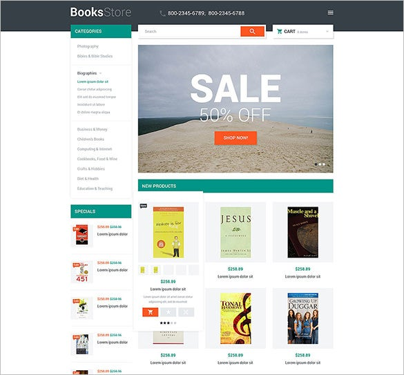 clean design bootstrap books store magento theme