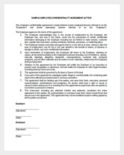 Generic Employee Confidentiality Agreement