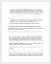 Employee Non Disclosure and Confidentiality Agreement