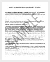 Mutual Non Disclosure and Confidentiality Agreement
