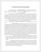 Mutual Confidentiality Agreement Form