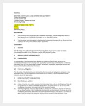 Precedent Standard Confidentiality Agreement
