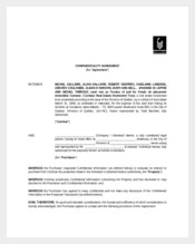 Confidentiality Agreement for Real Estate Investment