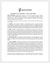 Real Estate Confidentiality Agreement for Agent