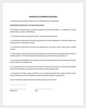 Real Estate Confidentiality Agreement for Buyer