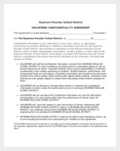 Complete Volunteer Confidentiality Agreement Revised
