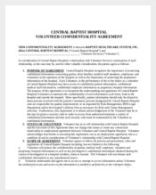 Medical Volunteer Confidentiality Agreement