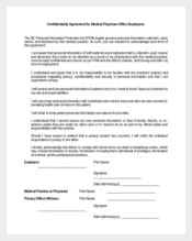 Confidentiality Agreement for Medical Physician