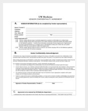 UW Medicine Vendor Confidentiality Agreement
