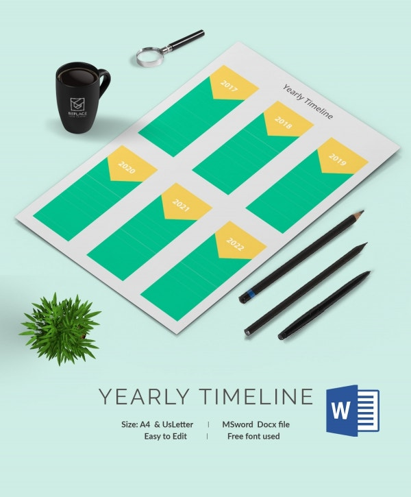 Customizable Yearly Timeline