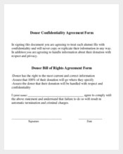 Donor Generic Confidentiality Agreement Form