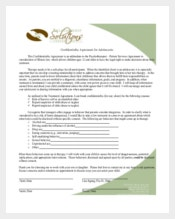 Adolescent Patient Confidentiality Agreement