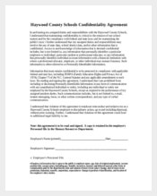 Human Resources Confidentiality Agreement Form