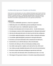Contractor Confidentiality Agreement Template and Checklist
