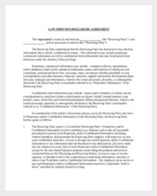 Legal Confidentiality Agreement for Advocate