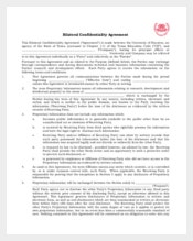 Bilateral Understanding Confidentiality Agreement