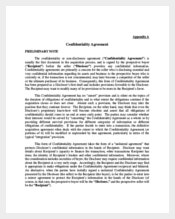 Business Understanding Confidentiality Agreement