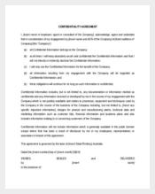 General Understanding Confidentiality Agreement